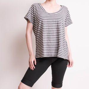 SALE Current Eilliot gray striped cotton T-shirt